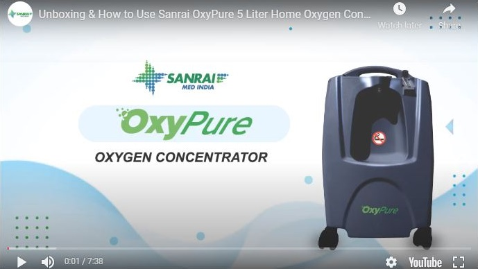 Unboxing & How to Use Sanrai OxyPure 5 Liter Home Oxygen Concentrator | Sanrai Shop